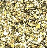 Grober und feiner Glitzerstoff zum Erstellen von Haarschleifen und anderen Handarbeiten, 2 Stück, Chunky - Gold