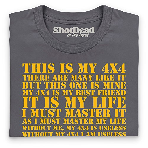 This Is My 4x4 T-shirt, Uomo Antracite