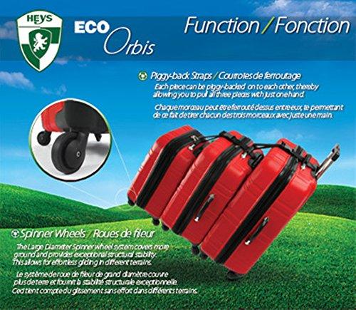 ... 50% SALE ... PREMIUM DESIGNER Hartschalen Koffer - Heys Core Eco Orbis Blau - Trolley mit 4 Rollen Medium Blau