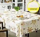 LIAN Festes Polyester-rechteckige Tischdecken-Schmetterlings-Muster Einfach zu säubern Wasserdichtes waschbares Weiches 190x130cm (Farbe : C)