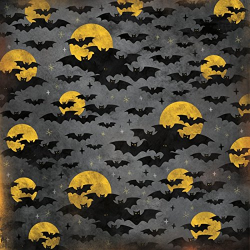 Unbekannt Karen Foster Scrapbooking-Papier Halloween-Fledermäuse 12x12 Inches grau