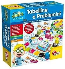 Idea Regalo - Lisciani Giochi 48885 Piccolo Genio Talent School  Tabelline e Problemini
