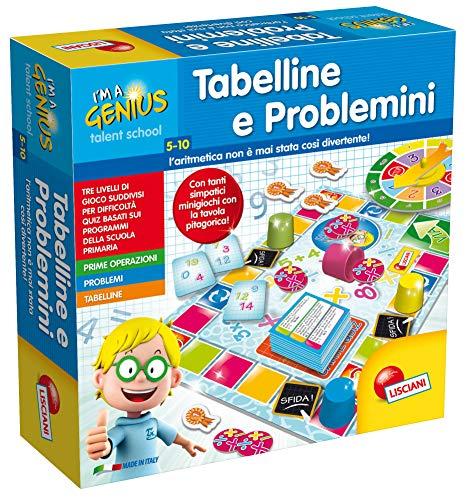 Lisciani giochi 48885 piccolo genio talent school  tabelline e problemini