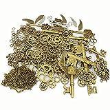 Lollibeads (TM) en métal Squelette Steampunk montre Gear Cog Roue des Ensembles, BronzeSilver-Charm-Kits-300pcs, Kits300pcs