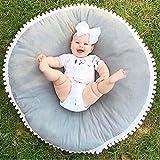 Cartoon Style Baby Spielmatte für Boden Reversible Dicke 100% Baumwolle 37,4 Zoll Playmat Für Kinder, Grey
