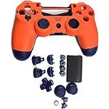 SHEAWA Ersättning spelkontroll skal gör-det-själv kontroll hölje fodral för PS4-kontroll (solnedgång orange)