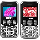KECHAODA ONEANTWO (1+1=2) D5 Black+ D5 Grey, Dual Sim Mobile Combo Of Two With 1200 Mah Battery Capacity , Vibration Feature And 1 Year Manufacturer Warranty