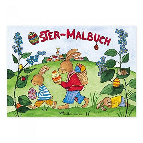 Ostermalbuch Hasenmarsch, A7, Ostern, Malblock, Ausmalblock, Osterhase, Hase,