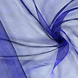 Fabulous Fabrics Organza - königsblau - Meterware ab 0,5m