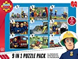 Jumbo 17338 - Fireman Sam 9-in-1 Puzzle Mix Test