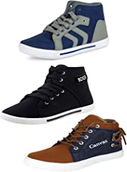 Bersache Men Combo Pack of 3 Casual Sneakers Shoes
