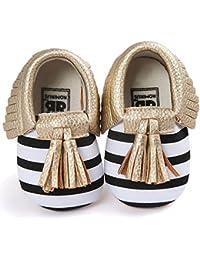 Zapatos para Bebé, Gosear Borlas Zapatos de Niña niño Zapatillas Suela Blanda para 6-12 meses