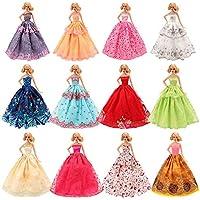 Miunana 5 Novia Hermoso Vestidos de Noche Hechos a Mano Ropa Vestir de la Boda Fiesta para Barbie Muñeca Doll Regalo
