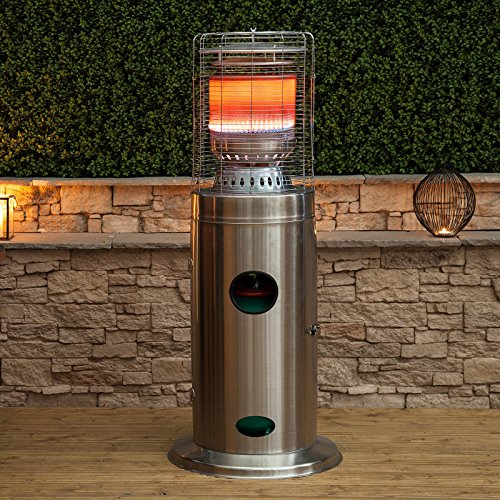 The Fire Mountain Floor Standing Bullet is an elegantly looking patio heater with a fantastic 'bullet' design. The construction is pretty solid and that's what you want for a unit that will be exposed to all sorts of elements outdoors, including risks of being knocked over.