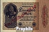 Deutsches Reich Rosenbg: 110b, Privatfirmendruck grüne Kontrollnummer, grünes FZ 1923 1 Milliarde auf 1000 Mark (Banknoten für Sammler)