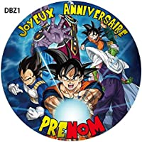 Disques comestible Dragon Ball Super personnalisable