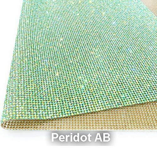 PENVEAT Shinning SS6 2mm Vollglasrhinestones Eisen auf Kleber auf Applikationen Banding Mesh-Blatt Brautkleider Schuhe trimmen, Peridot AB