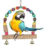 Balançoire à oiseaux - Jouet à suspendre - Jouet pour perroquet - En bois - Perroquet - Perroquet - Perroquet - Perroquet - P