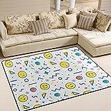 ingbags Super suave moderno Cute Emoji abstracto geométrico zona Rugs sala de estar alfombra dormitorio alfombra para niños Play Solid decoración de casa suelo alfombra y Carpets 63x 48cm