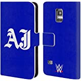 Official WWE Initials Aj Styles Leather Book Wallet Case Cover For Samsung Galaxy S5 mini
