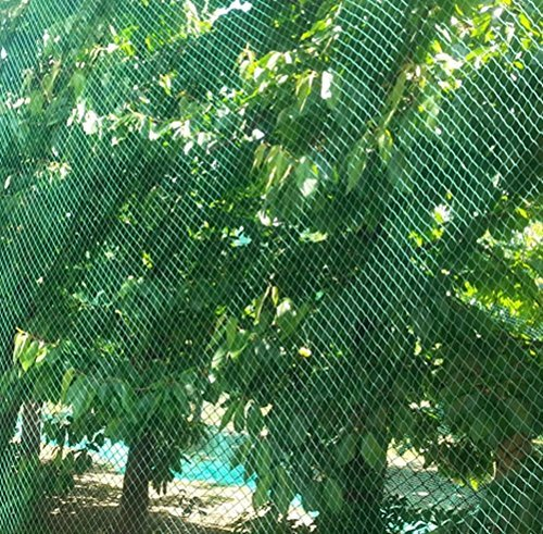 Vogelschutznetz Laubnetz Gartennetz Teichnetz Pflanzenschutznetz 14 Größen (8x14 m)