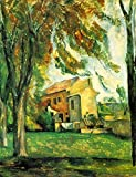 The Museum Outlet – The Pond of the JAS de Bouffan in Winter by Cezanne – Canvas Print Online Buy (101,6 x 127 cm)