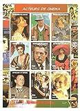 Bloc de timbre des acteurs de cinéma classiques et actrices / Sénégal / 1998