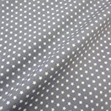 Stoff Baumwollstoff Baumwolle Sterne Stern grau weiß Popeline Meterware