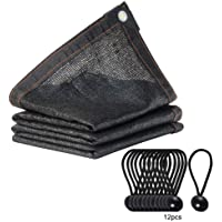 Xueliee 65%-75% Black Shade Cloth aped Edge Grommets Garden Flower Plant,Greenhouse, Barn Kennel