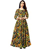 Trendy Fab Women's Long Rayon Maxi Gown (Multicolour, Free Size)