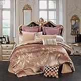 Unimall Luxuriöse Bettwäsche Garnitur exquisite Jacquard-Jersey Satin Orientalisch Bettbezug 220