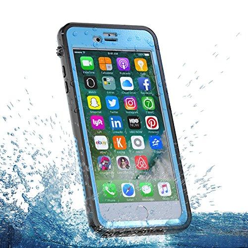 Cover iPhone 6 Plus / iPhone 6s Plus [Impermeabile] Custodia Ultra Slim Full Body Underwater Waterproof Shockproof Dustproof Dirtproof Case Cover Protettore Armor per iPhone 6 6s plus Cellulare (Nero) Cielo blu