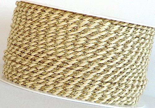 KORDEL 15m x 4mm wei/ß Drehkordel KORDELBAND Dekoband SCHLEIFENBAND Schnur weiss