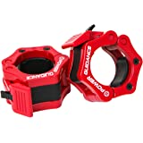 """POWER GUIDANCE Weightlifting Barbell Clamp Collar - Quick Release Pair of Locking 2"""" Olympic Bar - Great for Cross…"""