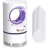 RUNADI Mosquito Killer - Insect Killer for Mosquitoes, Fruit Flies and Flying Gnats - Blue Light Insect Trap - Bug Killer with 12 Sticky Glue Boards