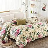 Puro algodón solo duvet cover/Otoño e invierno algodón edredón individual/ cómodo y respirable edredón-B 160x210cm(63x83inch)