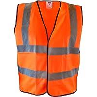 Scan SCAWWHVWMO Hi-Vis Safety Waistcoat Orange - Medium, Chest: 120 cm (47 Inch)