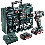 Metabo 602317870 borrskruvdragare BS 12 set (med batteri 2,0 Ah, 18 V, sladdlös skruvmejsel med väska tillbehör, inkl. laddar