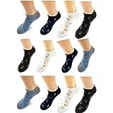 12 Pares de Calcetines bajos hombre, y mujer, Calcetines divertidos hombre, de algodón, originales y cómodos. Talla 40- 46 (B