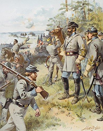 Ken Welsh/Design Pics - General Stonewall Jackson at The First Battle of Bull Run August 17 1861 Artist H.A. Ogden Photo Print (30,48 x 40,64 cm) - General Stonewall