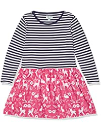 Lilly and Sid Fabric Mix Dress-Woodland, Robe Fille