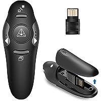Présentateur USB sans fil PPT Remote Control Presenter Pen, 2.4GHz PowerPoint Presentation Clicker, Red Light Pointer…