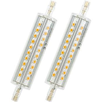 624fe3283b309f Ampoule LED R7s 118 mm, 10 W Projecteur LED Spot d éclairage Blanc chaud
