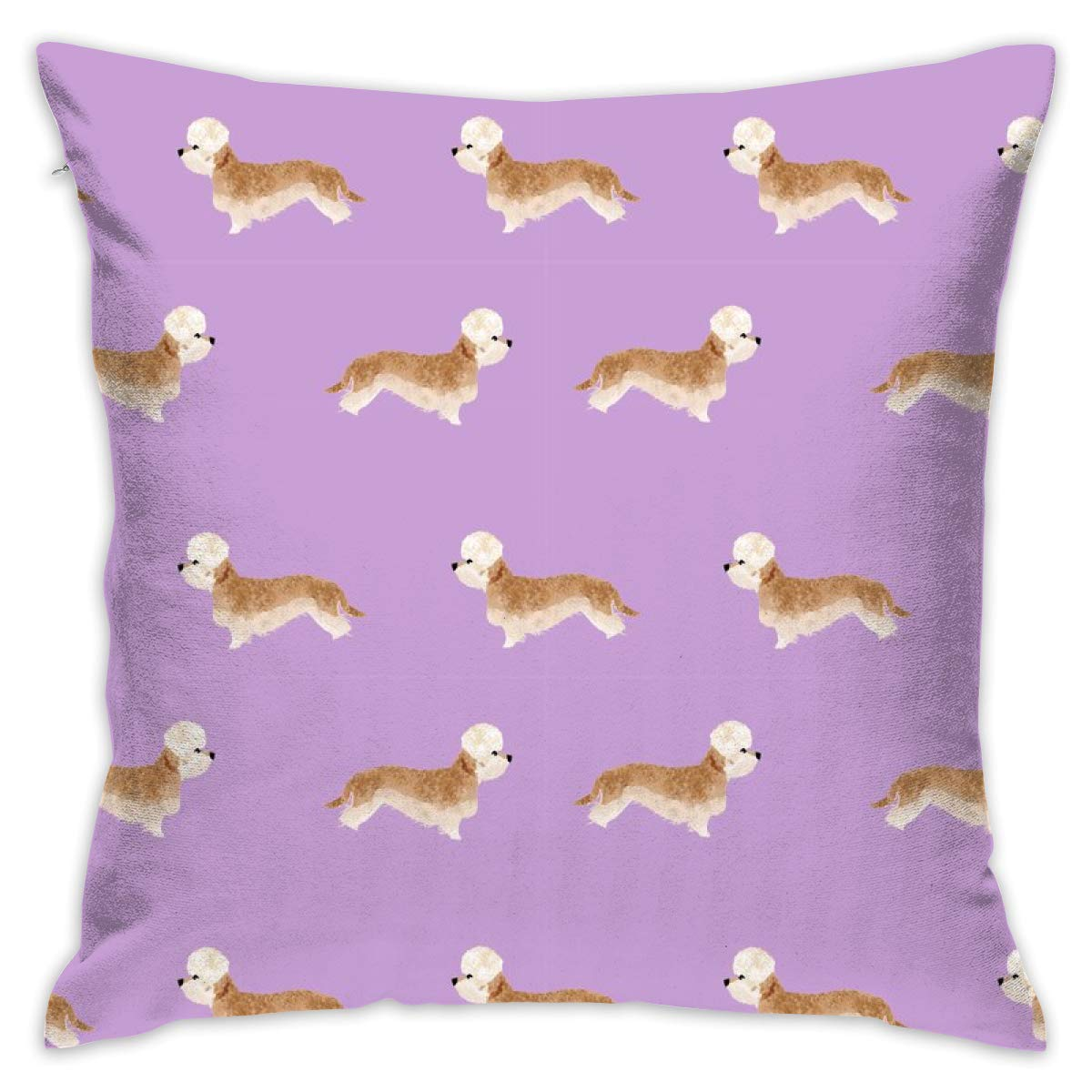 Mabell Beautifully decorated home Dandie Dinmont Terrier – Mustard Dog Coat, Dandie Dinmont Dog, Terrier Dog, Dog Breed – Purple Throw Pillow Case 18X18 Inches