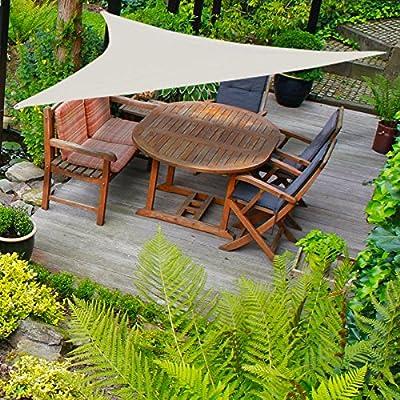 Sonnensegel Dreieck Beige 3,6 x 3,6 Sonnenschutz Metallringe inkl Abspannleinen von ZD - Gartenmöbel von Du und Dein Garten