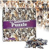 Puzzle Irrisolvibile - Motivo: Cani e Gatti - 500 Pezzi Quasi Identici - Adatto dai 9 Anni in Su - Regalo Scherzoso - Gioco Rompicapo - Idea Regalo Divertente per Bambini e Adulti