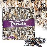 Unlösbares Puzzle – Motiv: Hunde und Katzen – 500 fast identische Teile – Geeignet ab 9 Jahren – Scherzartikel – Knobelspiel – fast unmöglich zu lösen - Lustige Geschenk-Idee für Erwachsene und Kinder zu Weihnachten