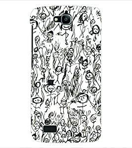 ColourCraft Graffiti Back Case Cover for HUAWEI HONOR HOLLY