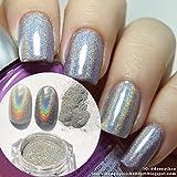 Born Pretty 1g/Box Holographic Laser Powder Nail Art Glitter Rainbow Pigment Manicure Chrome Pigments