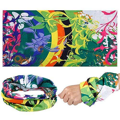 HITSAN INCORPORATION Party Mask Fashion Bandana Multi Functional Headband Flower Scarf Seamless Tubular Face Mask Magic Tube Ring Scarf A282